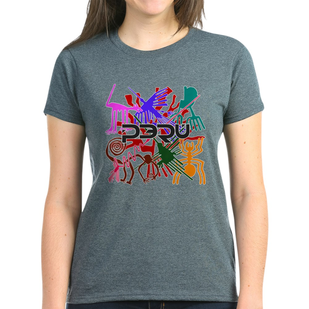 CafePress-Peru-Nazca-Colors-Women-039-s-Dark-T-Shirt-Womens-T-Shirt-689333217 thumbnail 54