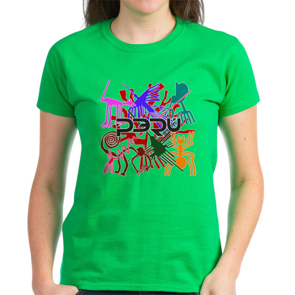 CafePress-Peru-Nazca-Colors-Women-039-s-Dark-T-Shirt-Womens-T-Shirt-689333217 thumbnail 64
