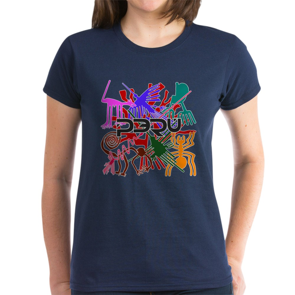 CafePress-Peru-Nazca-Colors-Women-039-s-Dark-T-Shirt-Womens-T-Shirt-689333217 thumbnail 38