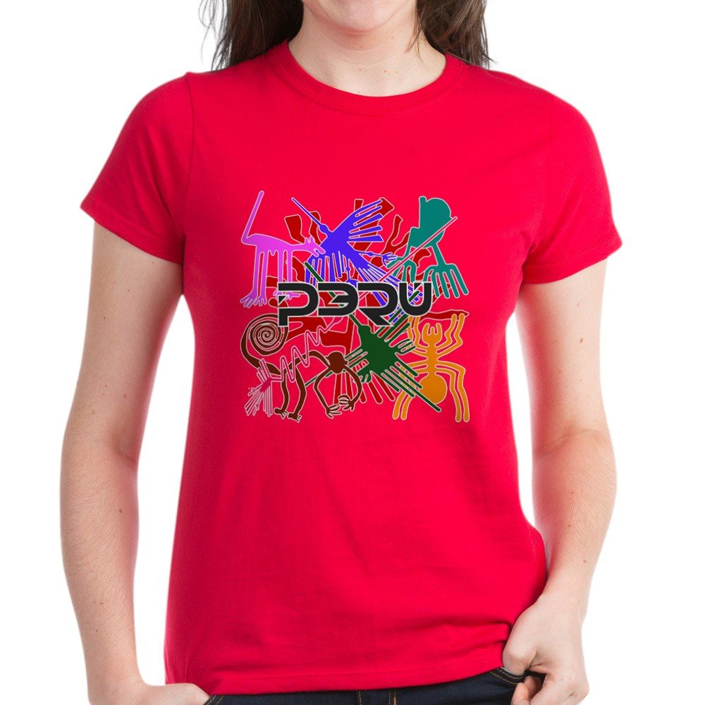 CafePress-Peru-Nazca-Colors-Women-039-s-Dark-T-Shirt-Womens-T-Shirt-689333217 thumbnail 14