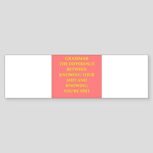 writing joke Sticker (Bumper)