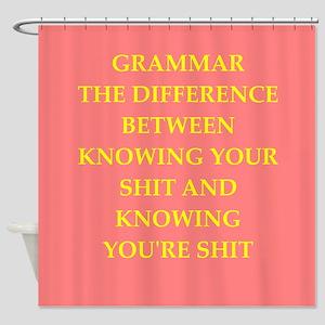 writing joke Shower Curtain