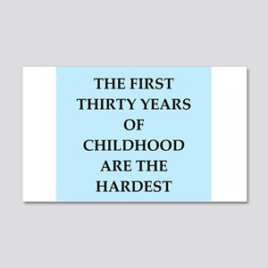 birthday joke 20x12 Wall Decal