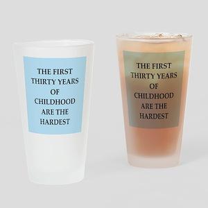 birthday joke Drinking Glass