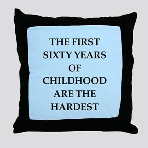 birthday joke Throw Pillow