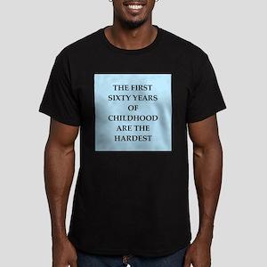 birthday joke Men's Fitted T-Shirt (dark)