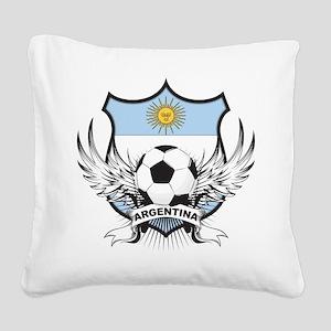 Argentina(blk) Square Canvas Pillow