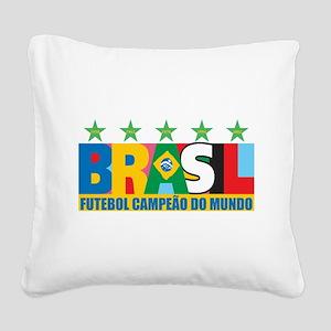 brasil Square Canvas Pillow