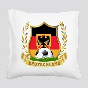 germany soccer Square Canvas Pillow