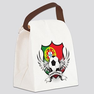 portugal soccer(blk) Canvas Lunch Bag
