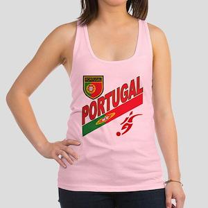 portugal soccer(blk) Racerback Tank Top