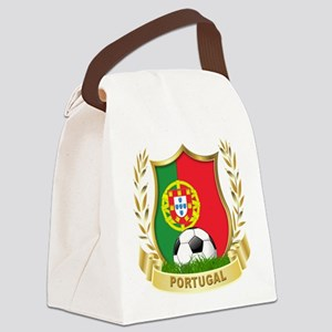 portugal soccer(blk) Canvas Lunch Bag