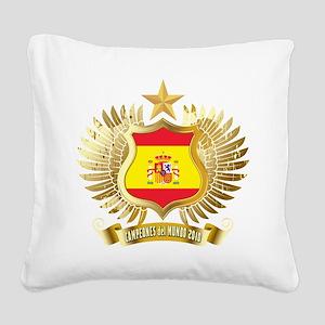 2010 spain champions Square Canvas Pillow