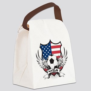 USA(blk) Canvas Lunch Bag