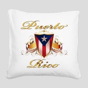 puerto rico Square Canvas Pillow
