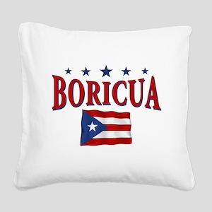 boricua Square Canvas Pillow