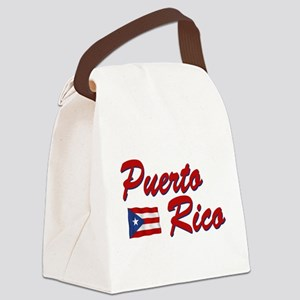 puerto rico(blk) Canvas Lunch Bag