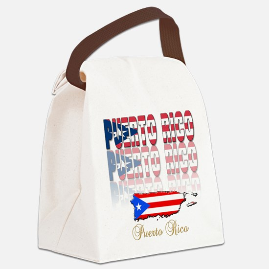 puerto rico(blk).png Canvas Lunch Bag