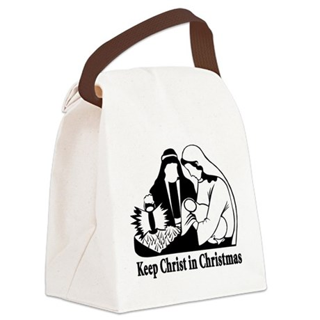 Keep christ in christmas.png Canvas Lunch Bag