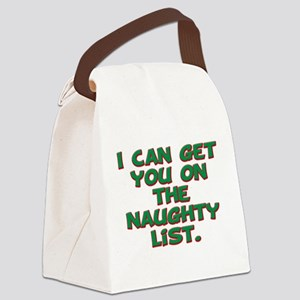 naughty list 1 Canvas Lunch Bag