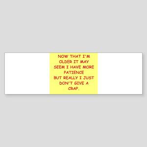 give a crap Sticker (Bumper)