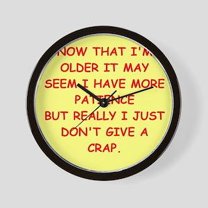 give a crap Wall Clock