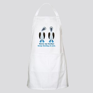 Pair of Boobys text Apron