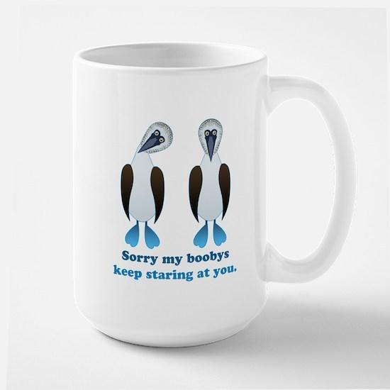 Pair of Boobys text Large Mug