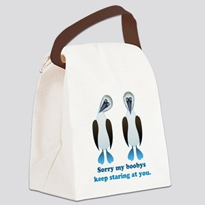 Pair of Boobys text Canvas Lunch Bag
