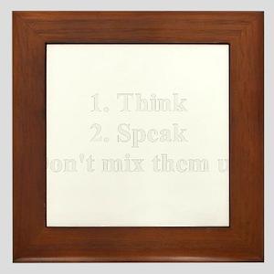 Think Speak Framed Tile