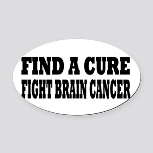 Brain Cancer Oval Car Magnet