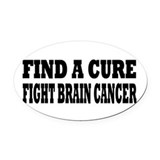 Brain cancer Oval Car Magnets