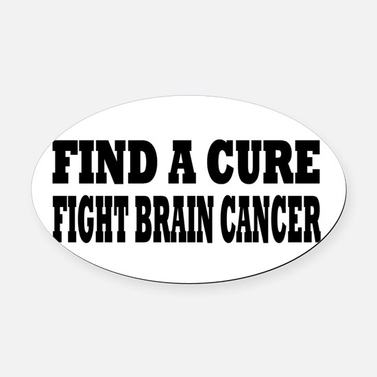 Brain Cancer Oval Car Magnet