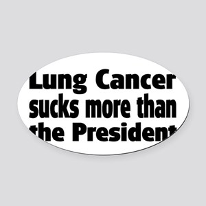 Lung Cancer Oval Car Magnet