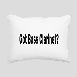 Bass Clarinet Rectangular Canvas Pillow
