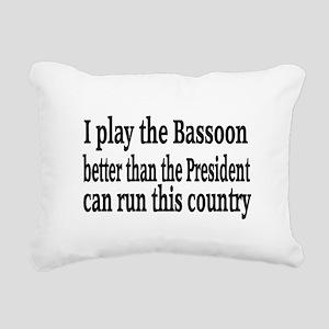 Bassoon Rectangular Canvas Pillow