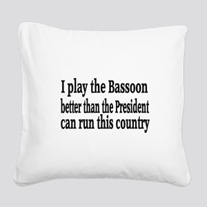 Bassoon Square Canvas Pillow