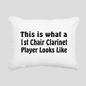 1st Chair Clarinet Rectangular Canvas Pillow