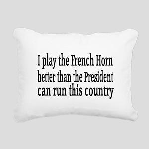 French Horn Rectangular Canvas Pillow