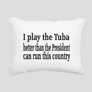 Tuba Rectangular Canvas Pillow