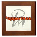 Poppermost Pm Logo Framed Tile