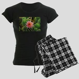 Cactus Flower Women's Dark Pajamas