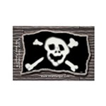 Jolly Roger Pirate Booty Plank Magnet