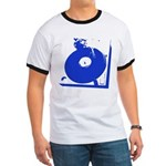 Vinyl Record Turntable Ringer T-Shirt