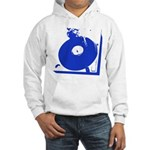 Vinyl Record Turntable Hooded Sweatshirt