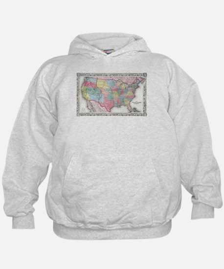 Vintage United States Map (1853) Sweatshirt