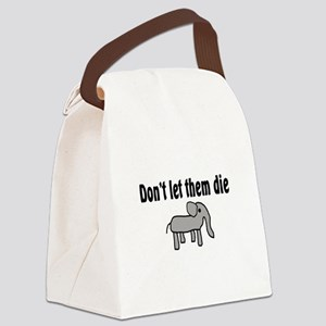 Save the Elephants Canvas Lunch Bag