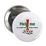 "Video Poker 2.25"" Button (10 pack)"
