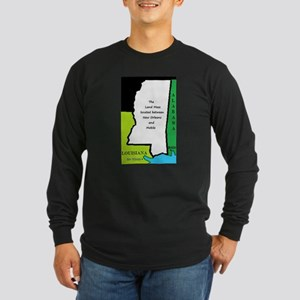 Land mass between NOLA and Mobile Long Sleeve Dark
