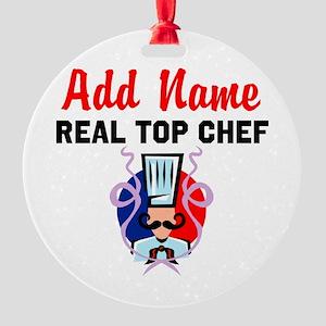 BEST CHEF Round Ornament